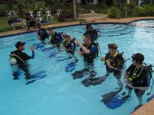Open Water Instructor training at Kasai Village