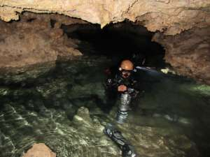 Cavern diving at Kasai Village Dive Academy